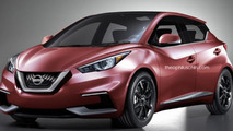 Next generation Nissan Micra rendered based on Sway concept