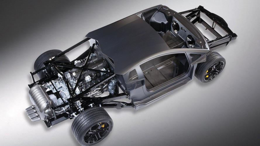 Lamborghini unveils LP700-4 Aventador V12 rolling chassis