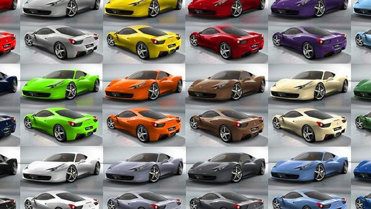 Ferrari 458 Italia - Choose your favorite color