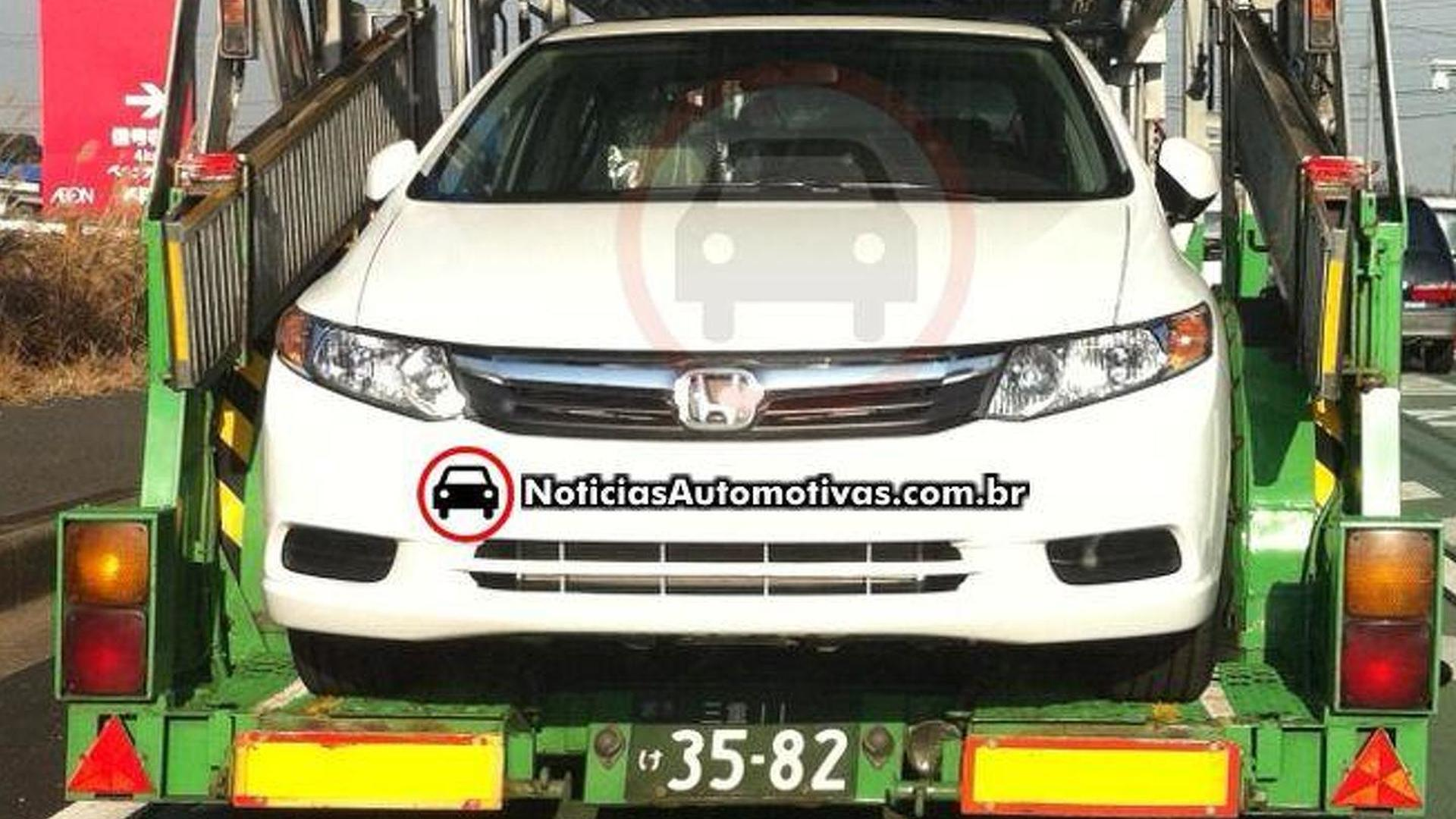 2012 Honda Civic snapped uncovered