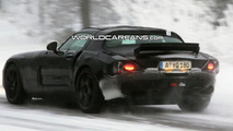 Mercedes SLC Gullwing Winter Testing Spy Video