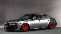 Saab 9-5 as Bugatti Veyron artist rendering
