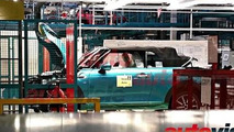 2016 MINI Cooper Cabrio photographed on the assembly line in Born