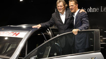 Mercedes-Benz DTM AMG C-Coupe reveal in Frankfurt with Michael Schumacher 13.09.2011