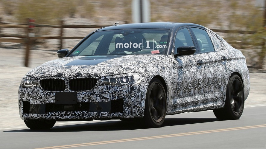 Next BMW M5 spied in the desert