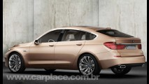 BMW Série 5 Gran Turismo Concept 2009 é mistura de coupé, sedã e utilitário