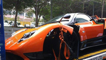 Pagani Zonda F wrecked in Hong Kong