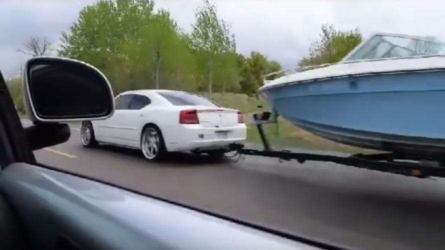 Cummins-powered Dodge Charger hauls boat and rolls coal