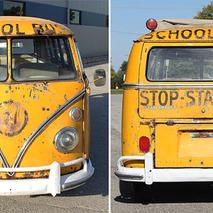 This 21-Window Volkswagen School Bus is Snow-Day Cool