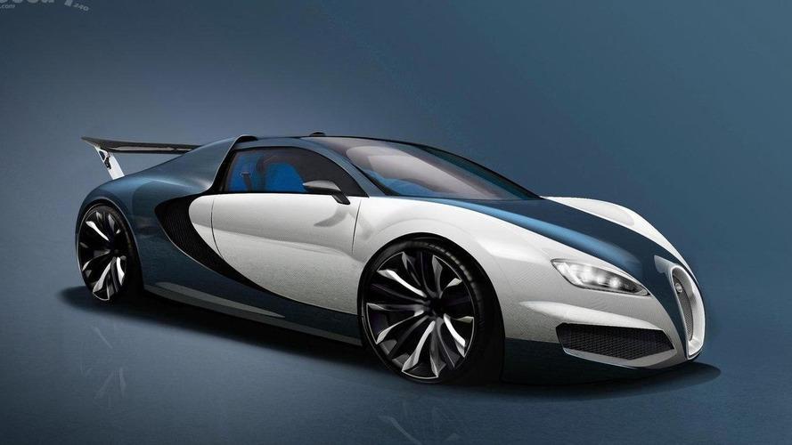 Bugatti Veyron successor imagined