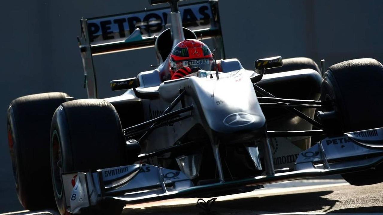 Michael Schumacher (GER), Mercedes GP Petronas cuts the chichane - Formula 1 Testing, Pirelli tire test, 20.11.2010 Abu Dhabi