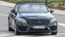 2017 Mercedes-AMG C43 Cabriolet spied stretching out