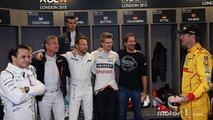 Felipe Massa, David Coulthard, Pascal Wehrlein, Jenson Button, Nico Hulkenberg, ROC founder Fredrik Johnsson, Ryan Hunter-Reay
