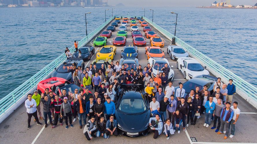 50 colourful McLarens come together to celebrate the new year