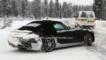 Mercedes SLS AMG Roadster First Spy Photos Winter Testing