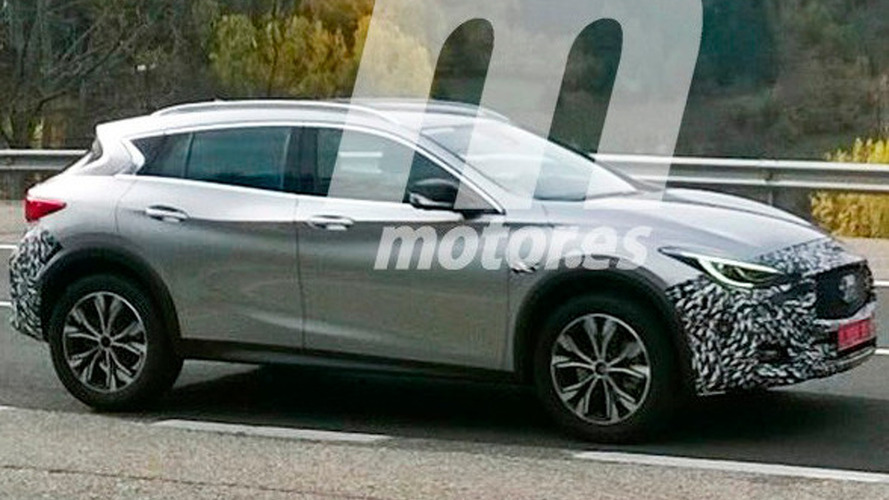 Slightly camouflaged Infiniti QX30 spied in Spain