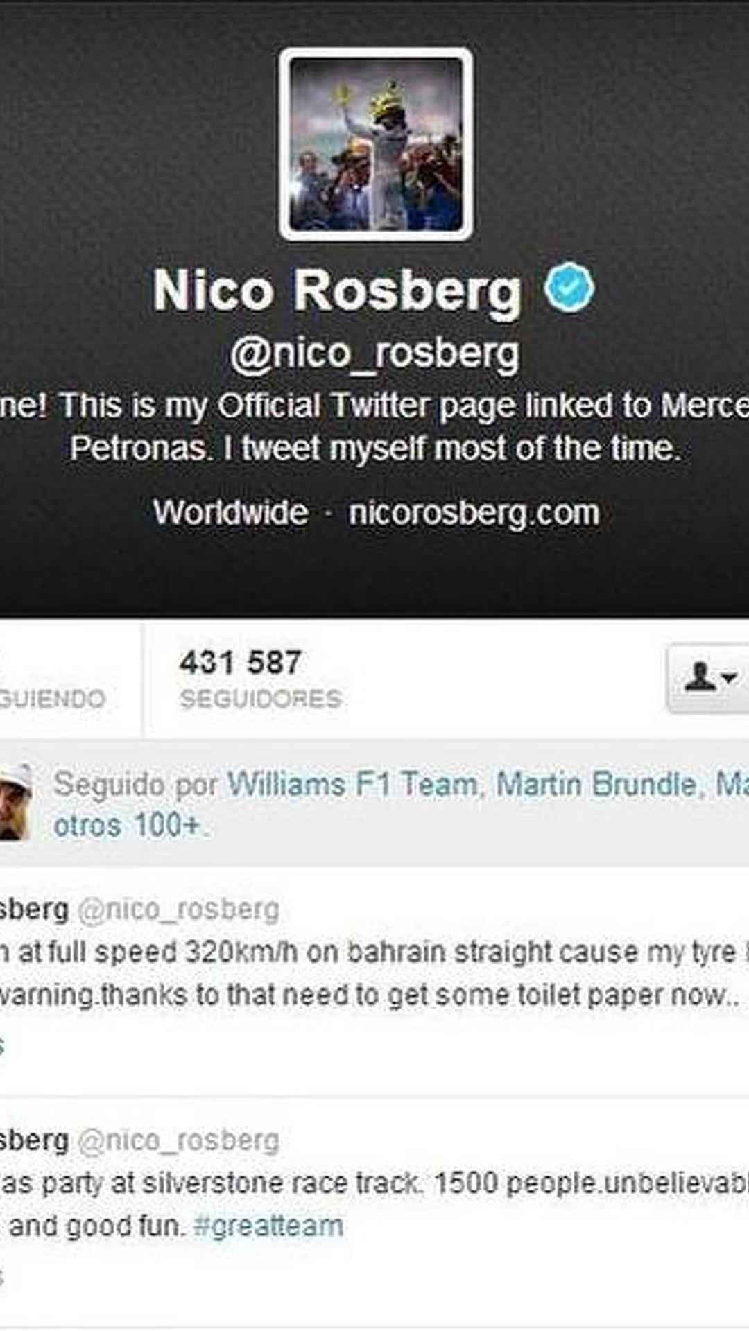 Rosberg reveals tyre failure at 320kmh in Bahrain testing