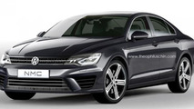 Volkswagen Jetta CC rendered based on NMC concept