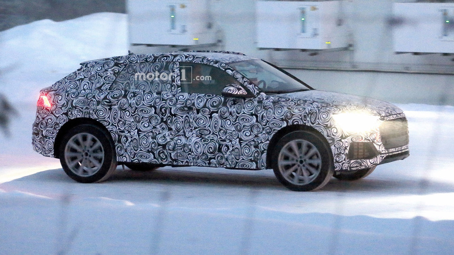 Audi Q8 spied with production body for the first time