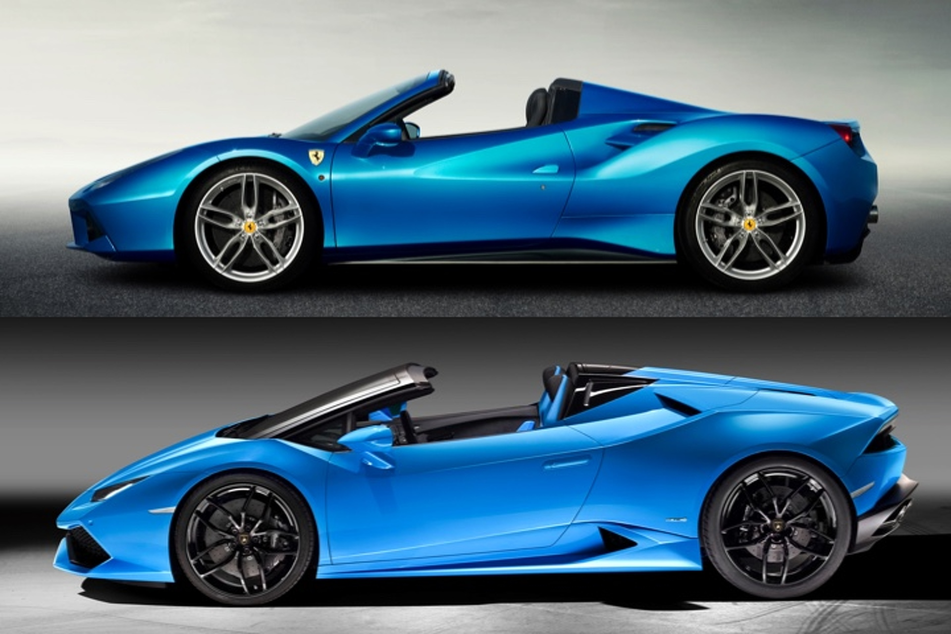 lamborghini huracan spyder vs ferrari 488 how do they. Black Bedroom Furniture Sets. Home Design Ideas