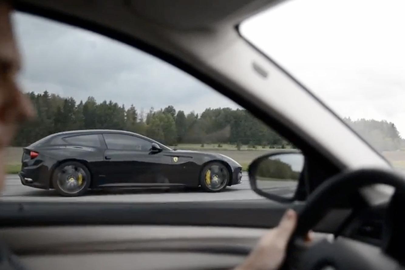 Watch this BMW M5 Beat a Ferrari in a Drag Race
