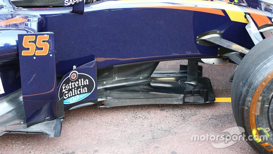 Carlos Sainz Jr., Scuderia Toro Rosso STR11 T-Tray detail