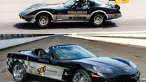 Top: 1978 pace car ; Bottom: 2008 pace car