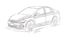 Sketch Volkswagen Virtus / Polo Sedan 2018