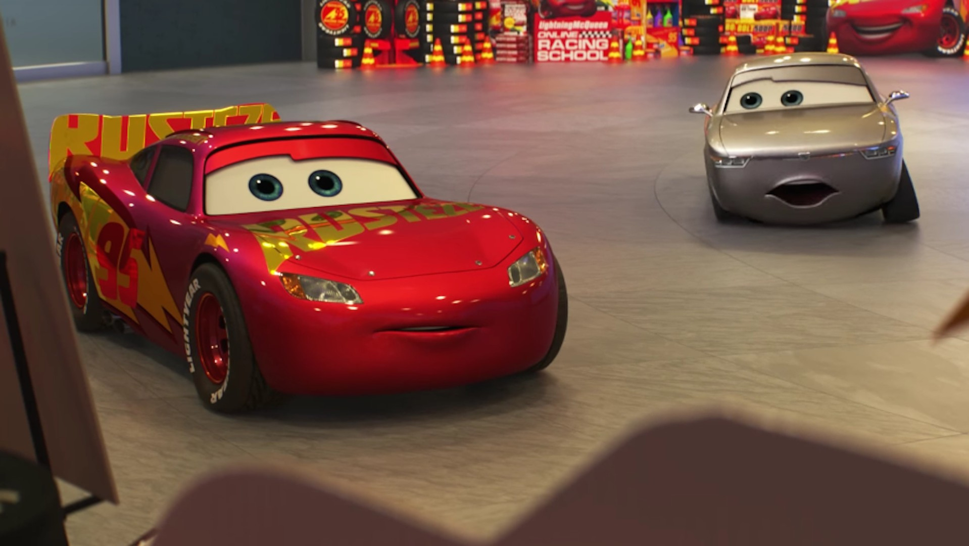 new cars 3 trailer pushes mcqueen to edge of retirement. Black Bedroom Furniture Sets. Home Design Ideas