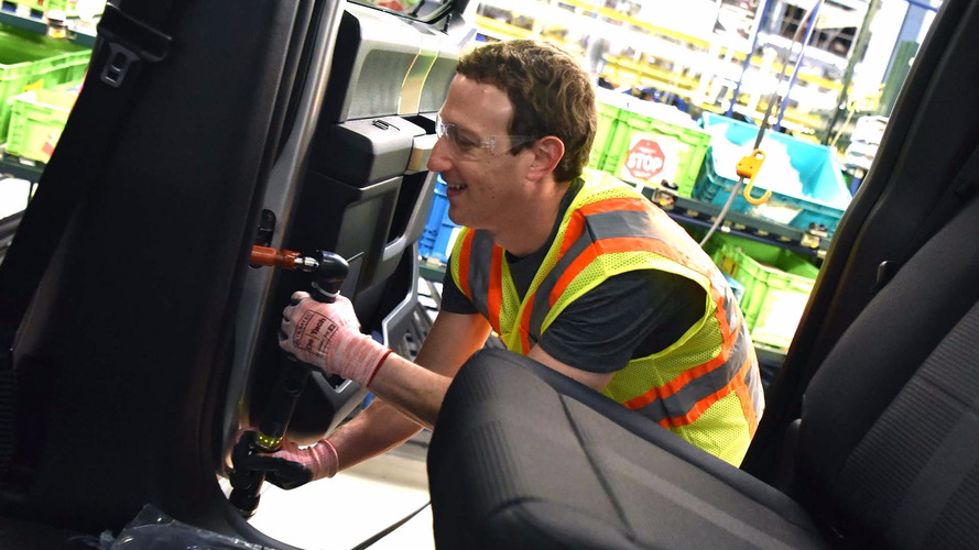 Facebook's Zuckerberg Signs A Mystery F-150 During Detroit Visit