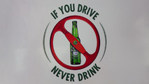 Heineken F1 sponsorship announcement - anti-drink driving banner