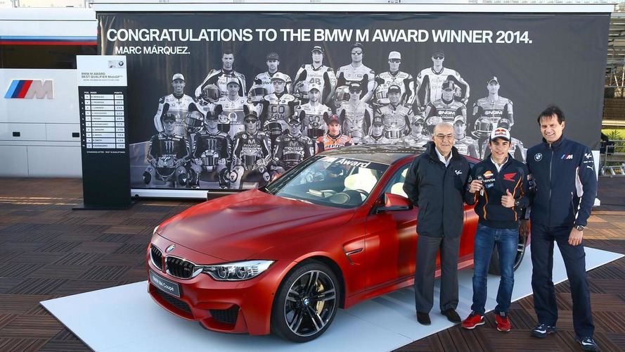 BMW awards MotoGP best qualifier Marc Marquez with a bespoke M4 Coupe