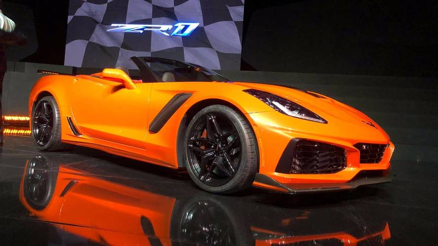Corvette ZR1 convertible surprise reveal – will cost £92k in US
