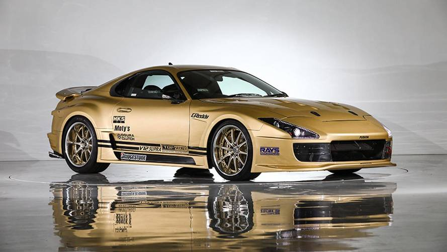 Go For Gold With This Mental 222-MPH V12 Toyota Supra