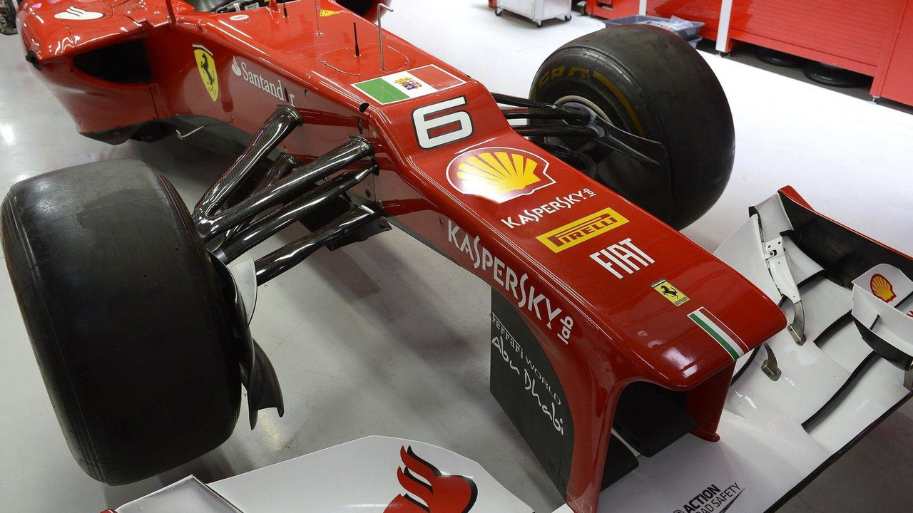 Scuderia Ferrari F2012 with Italian Navy flag for Indian Grand Prix 25.10.2012