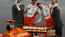 Adrian Sutil (GER), Christijan Albers (NED), Spyker F1 Team, Spyker F1 Team, Announce new title sponsor, Etihad Airways and Aldar, Australian Grand Prix, Thursday, 15.03.2007 Melbourne, Australia