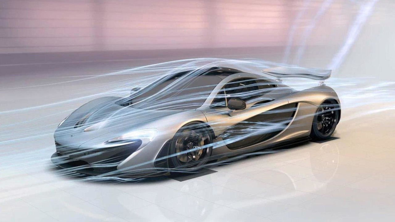 McLaren P1 aerodynamics illustration