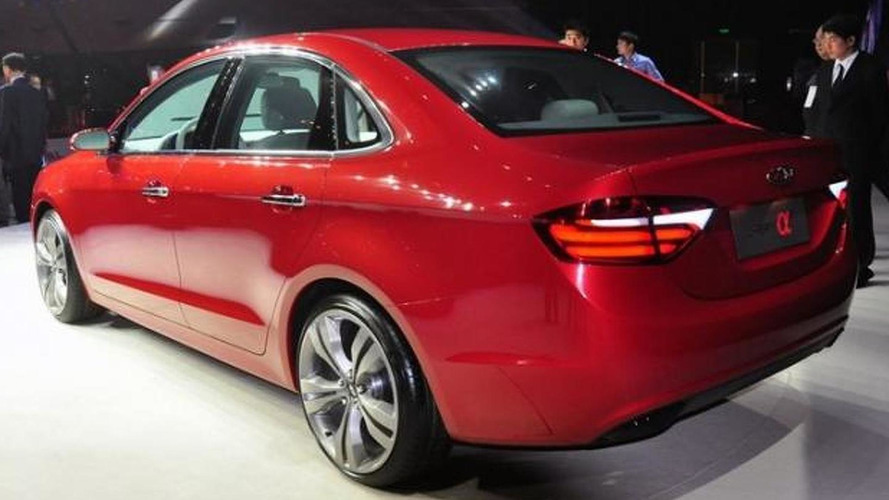 Chery Alpha 7 Concept unveiled before 2013 Auto Shanghai