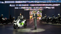 BMW C evolution electric scooter live in Frankfurt 10.09.2013
