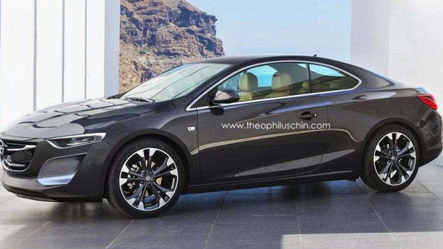 Next-gen Opel Calibra rendered, inspired by Cascada & Monza concept