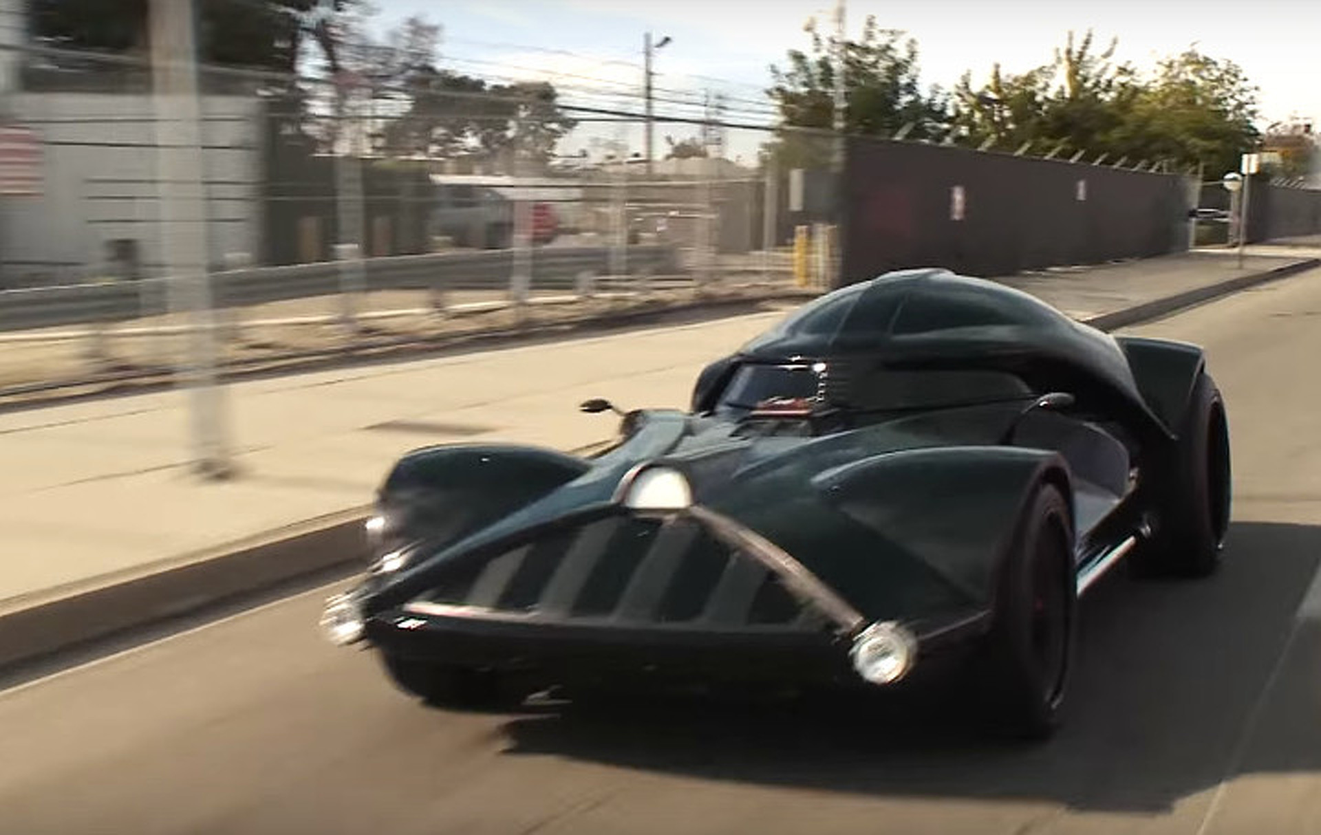 Darth Vader's Car Storms Into Jay Leno's Garage