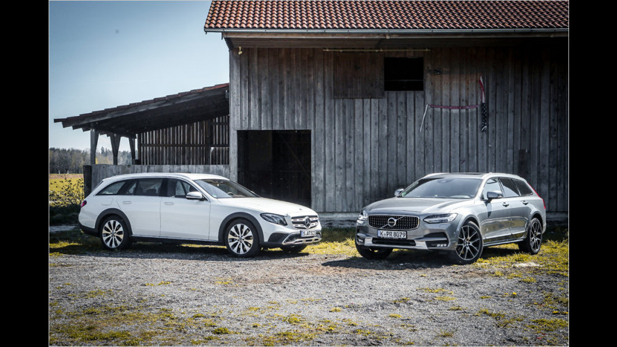 Mercedes E 220 d All-Terrain vs. Volvo V90 Cross Country D4