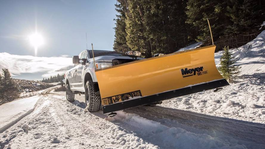 2018 Nissan Titan XD Takes On Winter With Snow Plow Pack