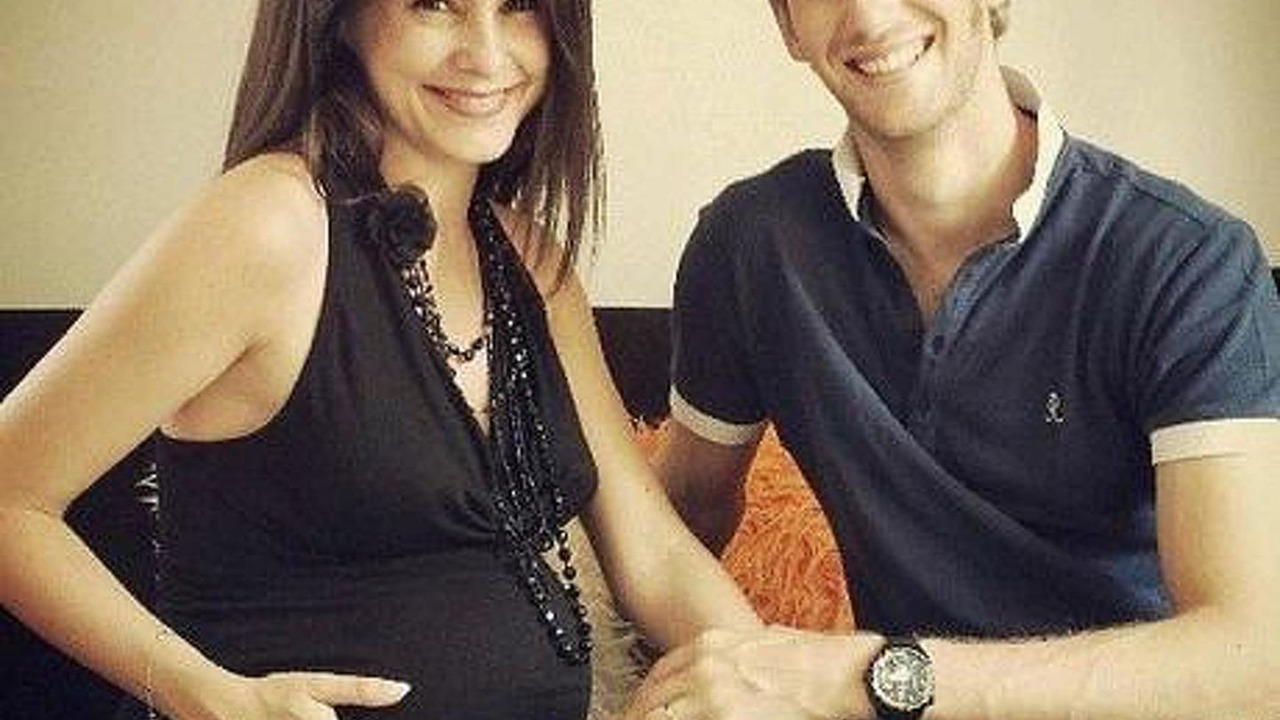 Romain Grosjean and his wife Marion Jolles 09.08.2013