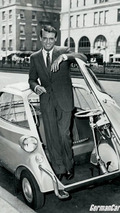 Cary Grant with BMW Isetta