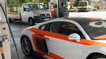 Audi R8 V10 biturbo conversion by MTM spy photos, 14.09.2010