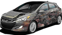 2013 Hyundai Elantra GT, The Walking Dead 100th issue cover wrap 21.06.2012