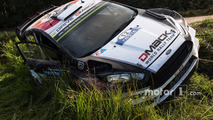 Crashed car of Ott Tanak, Raigo Molder, DMACK World Rally Team