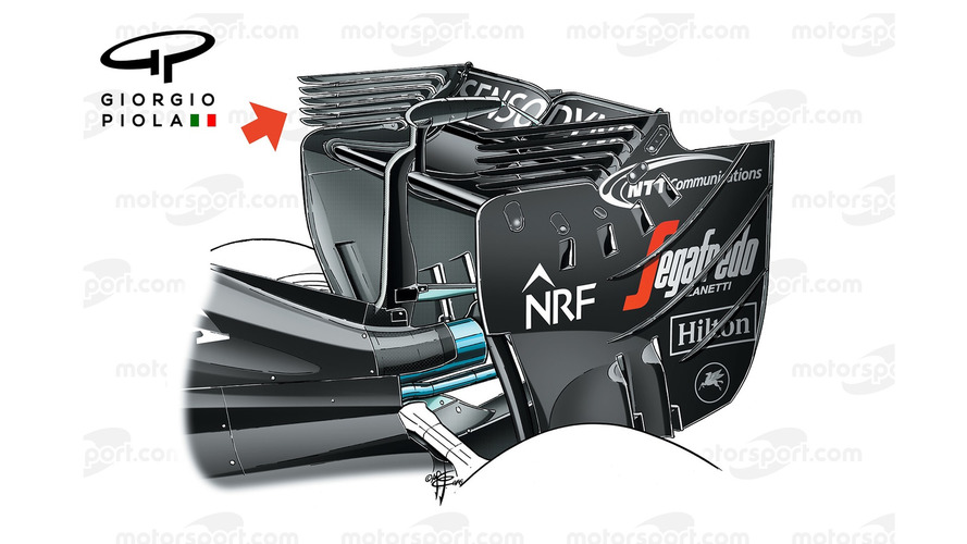 McLaren-Honda MP4-31 wing