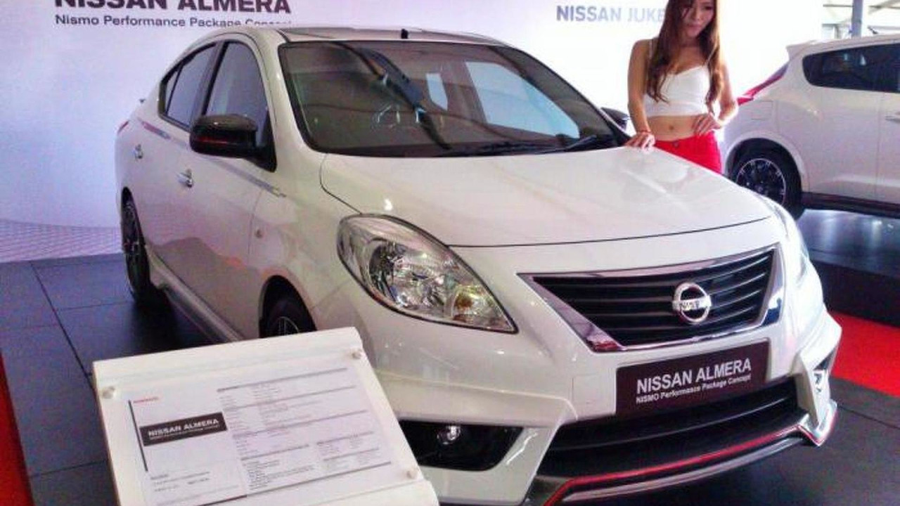 Nissan almera nismo performance concept unveiled in malaysia nissan almera nismo performance package concept 1862013 vanachro Images